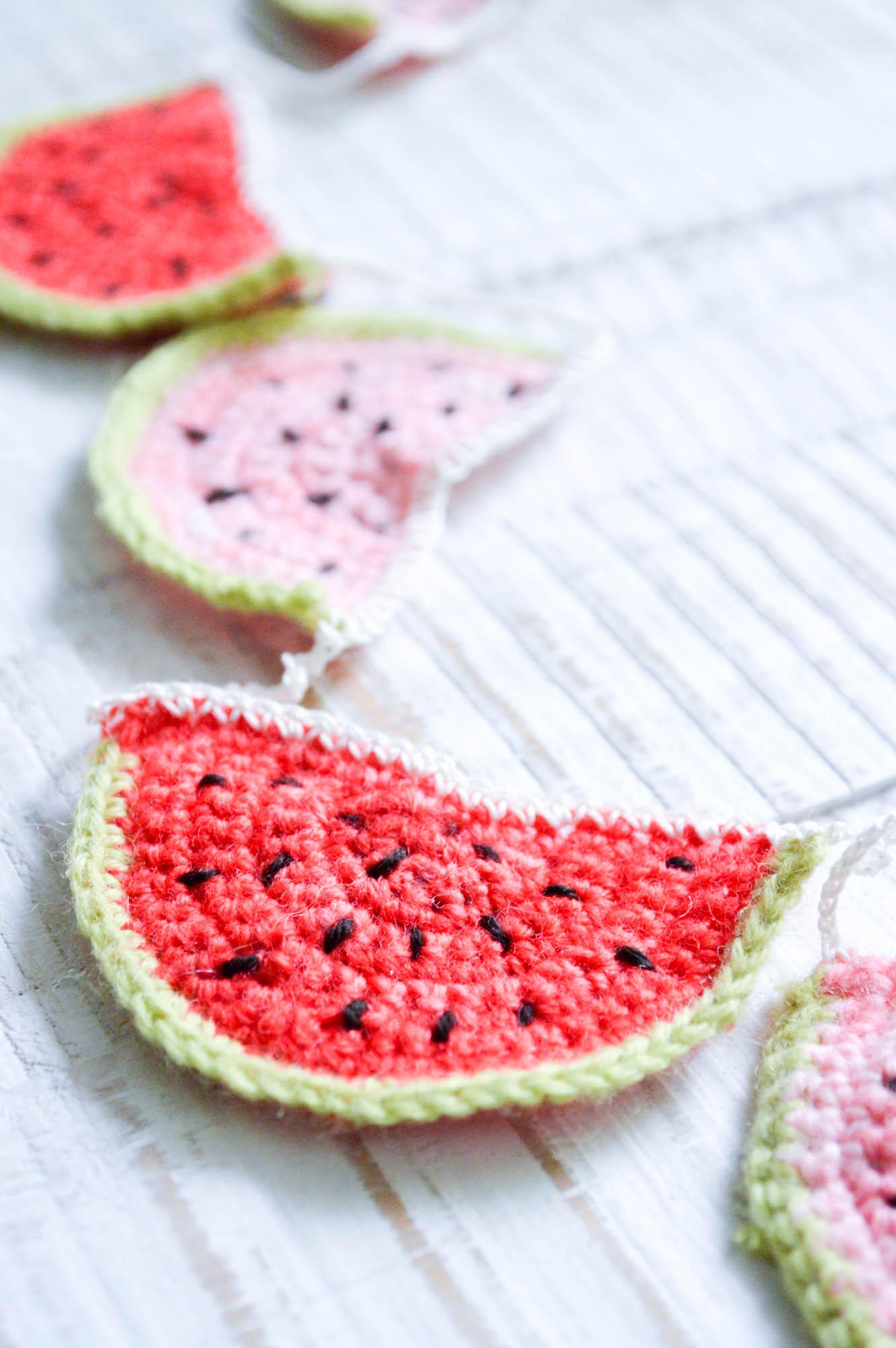 Melonen Wimpelkette häkeln