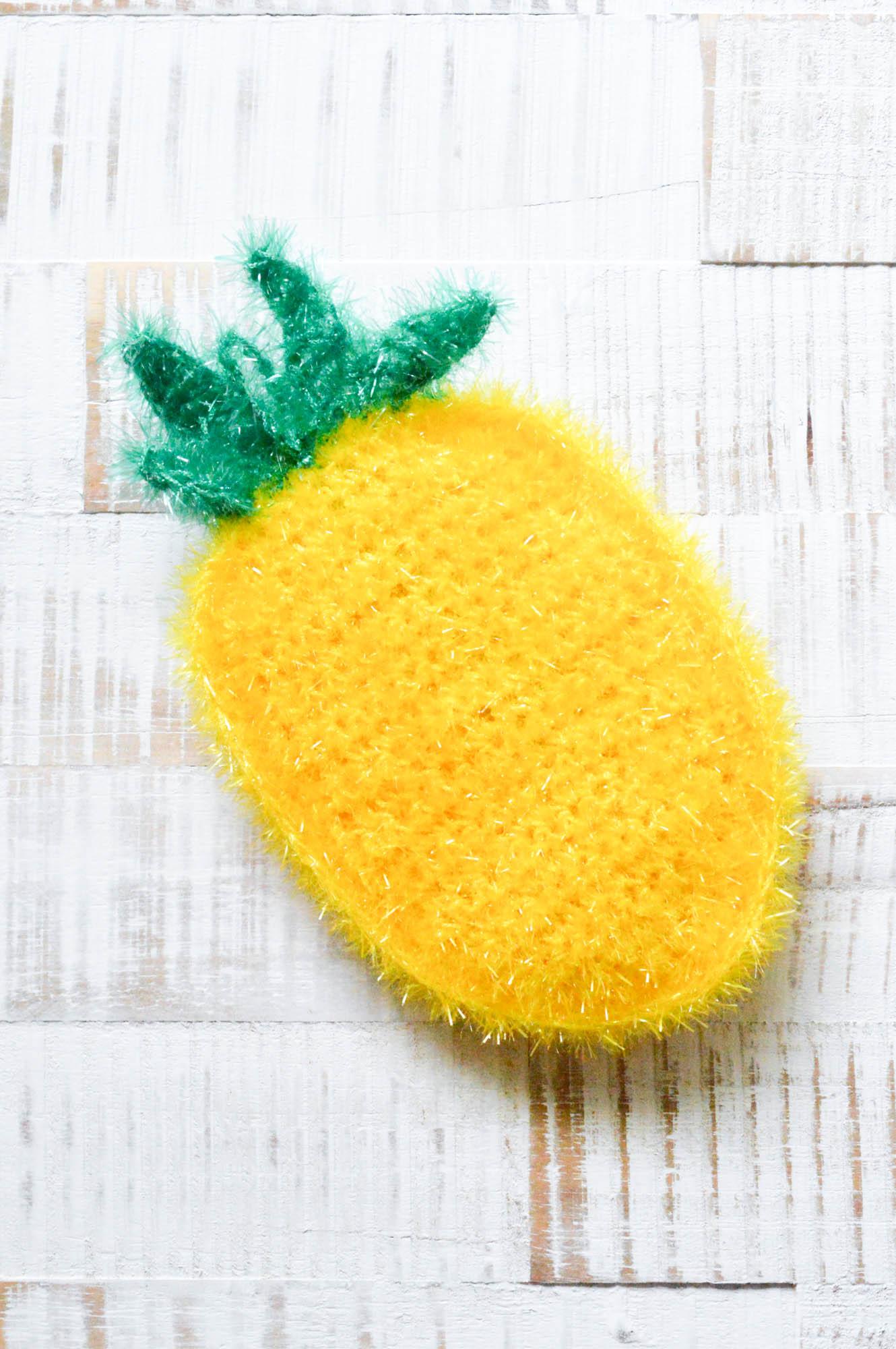 Ananas Schwamm Mein Gehäkeltes Herz