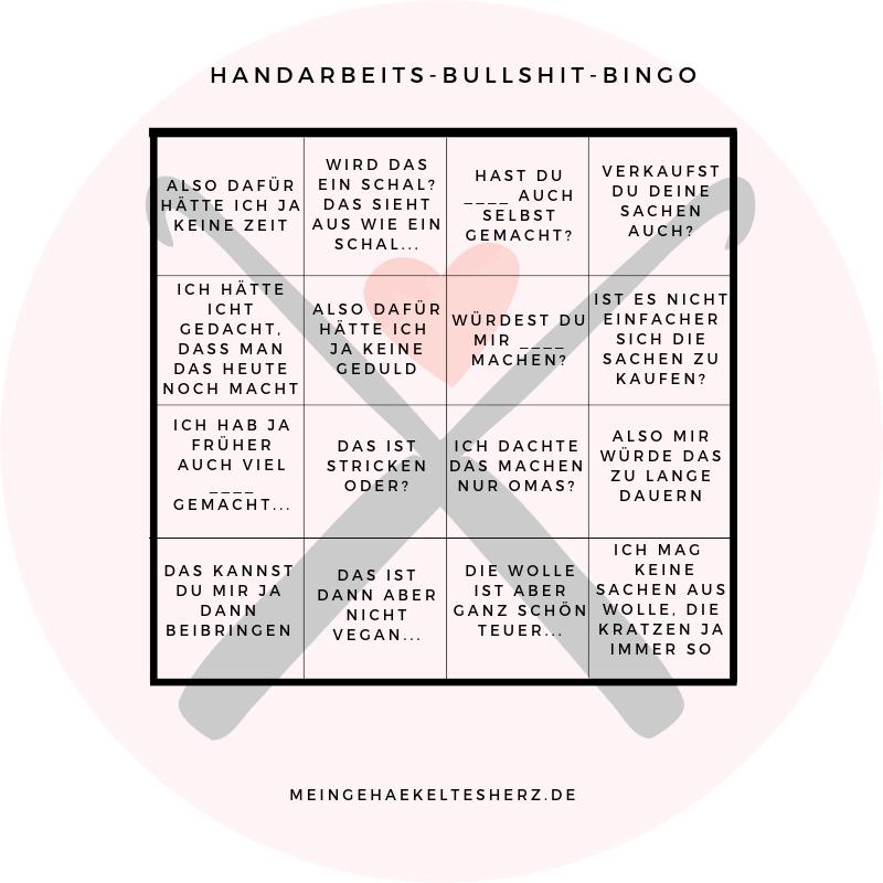 Bullshit Bingo für Handarbeitsfans