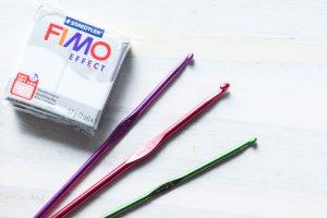 Aus Fimo ganz einfache Griffe für Häkelnadeln basteln- garantiert mit Wow-Effekt