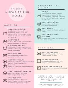 Pflegehinweise für Wolle verstehen