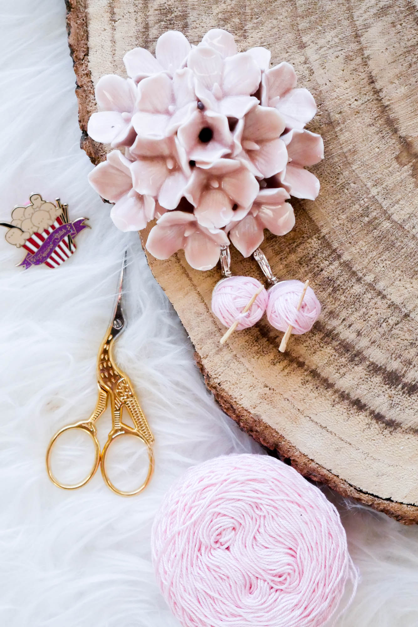 Ohrringe- Schnelles DIY für Wollliebhaber