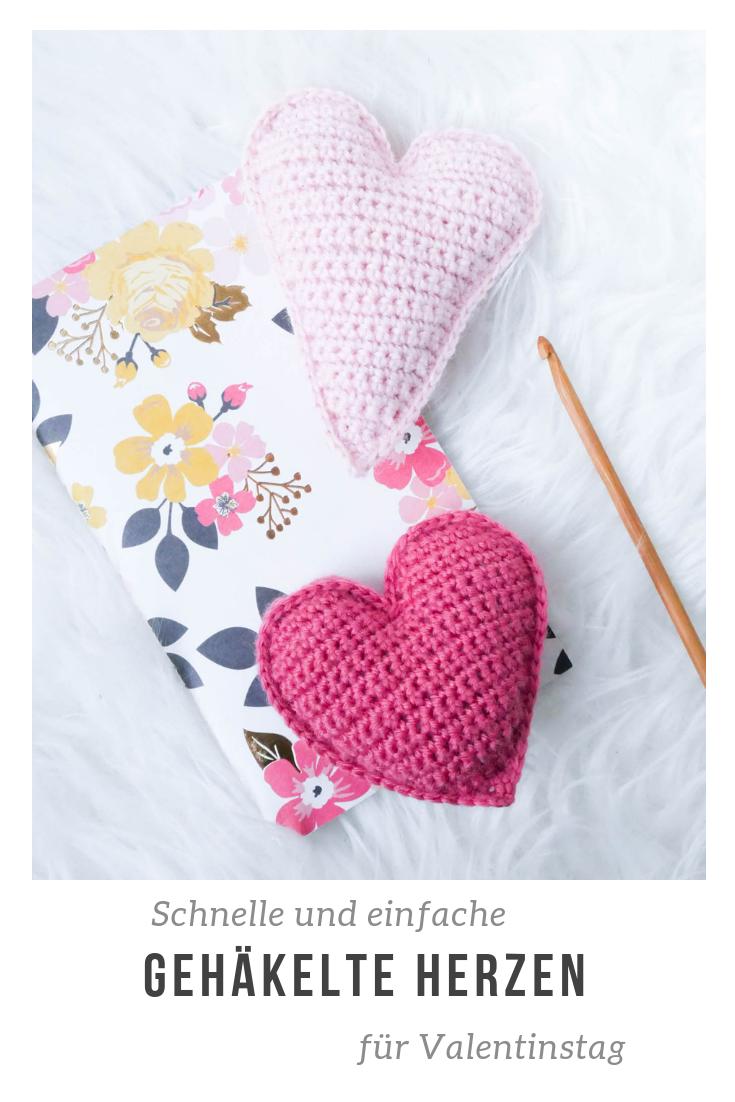 Einfache und kostenlose Anleitung für 2 verschiedene Versionen- gehäkeltes Herz