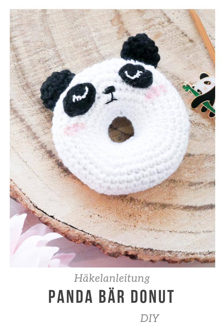 DIY Häkelanleitung für einen Panda Donut