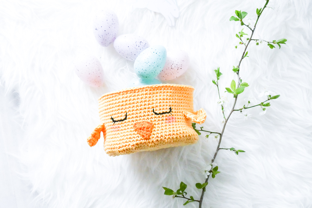 Osterküken Nest- So häkelt ihr ein niedliches Osterkörbchen