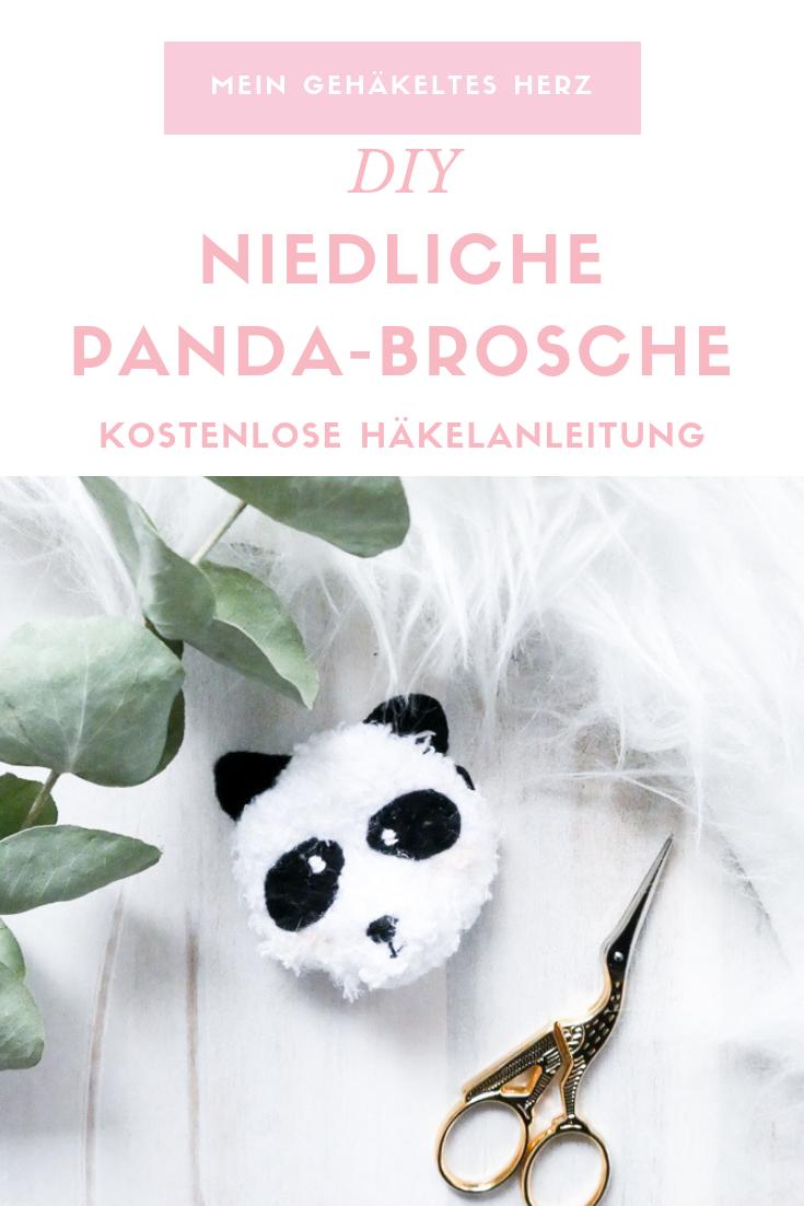 Pandabär Brosche- DIY