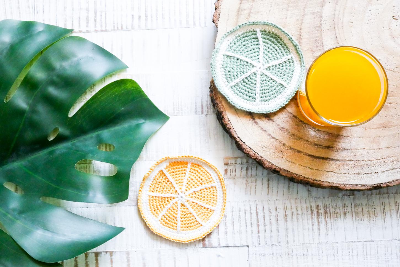 Häkelanleitung für fruchtige Untersetzer- ideal für den Sommer