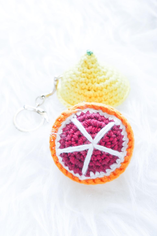 Schlüsselanhänger Zitrone- sommerliche Häkelanleitung- alternative Form