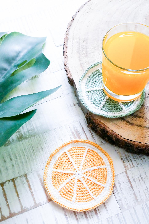 Untersetzer häkeln- DIY-Limette und Zitrone