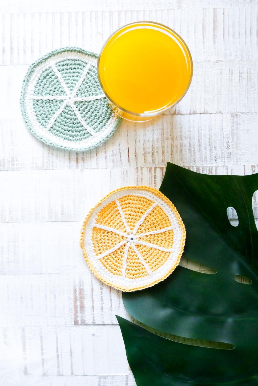 Zitrus-Früchte Untersetzer Häkeln- DIY für Sommer