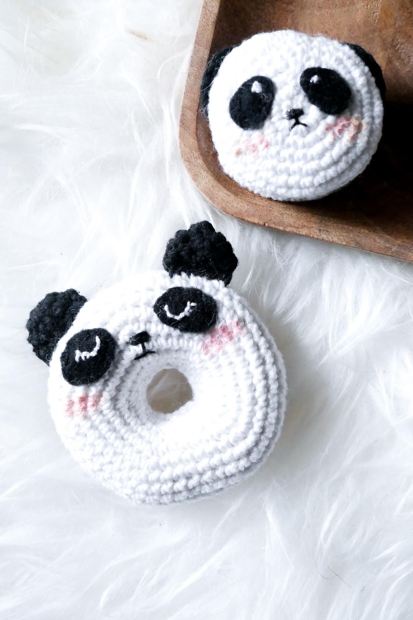Panda-Amigurumi- Filz als Dekoobjekt für Amigurumi