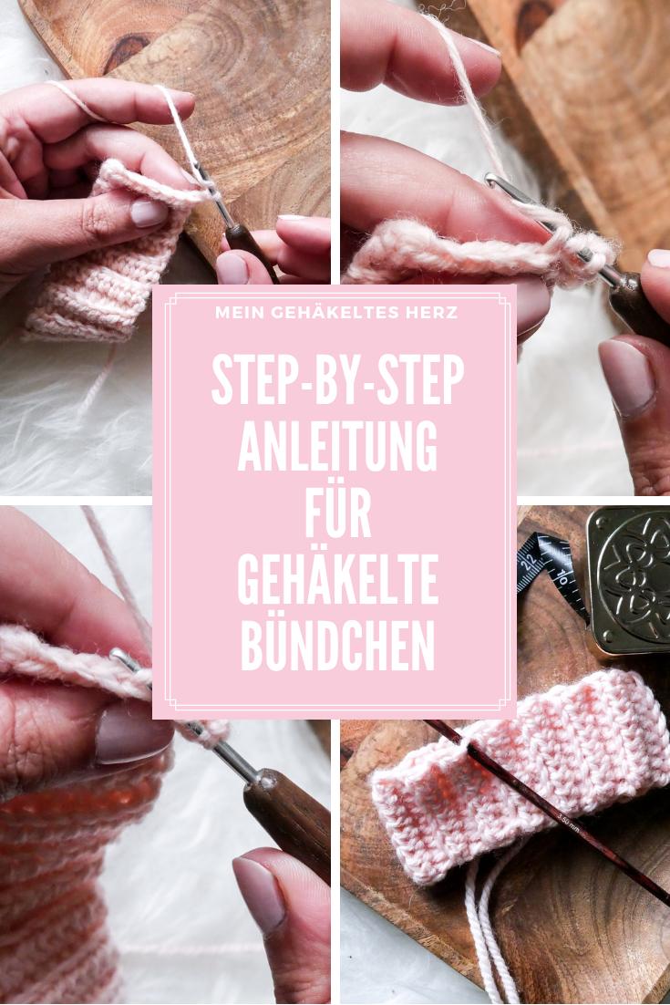 step by step- Häeklbündchen