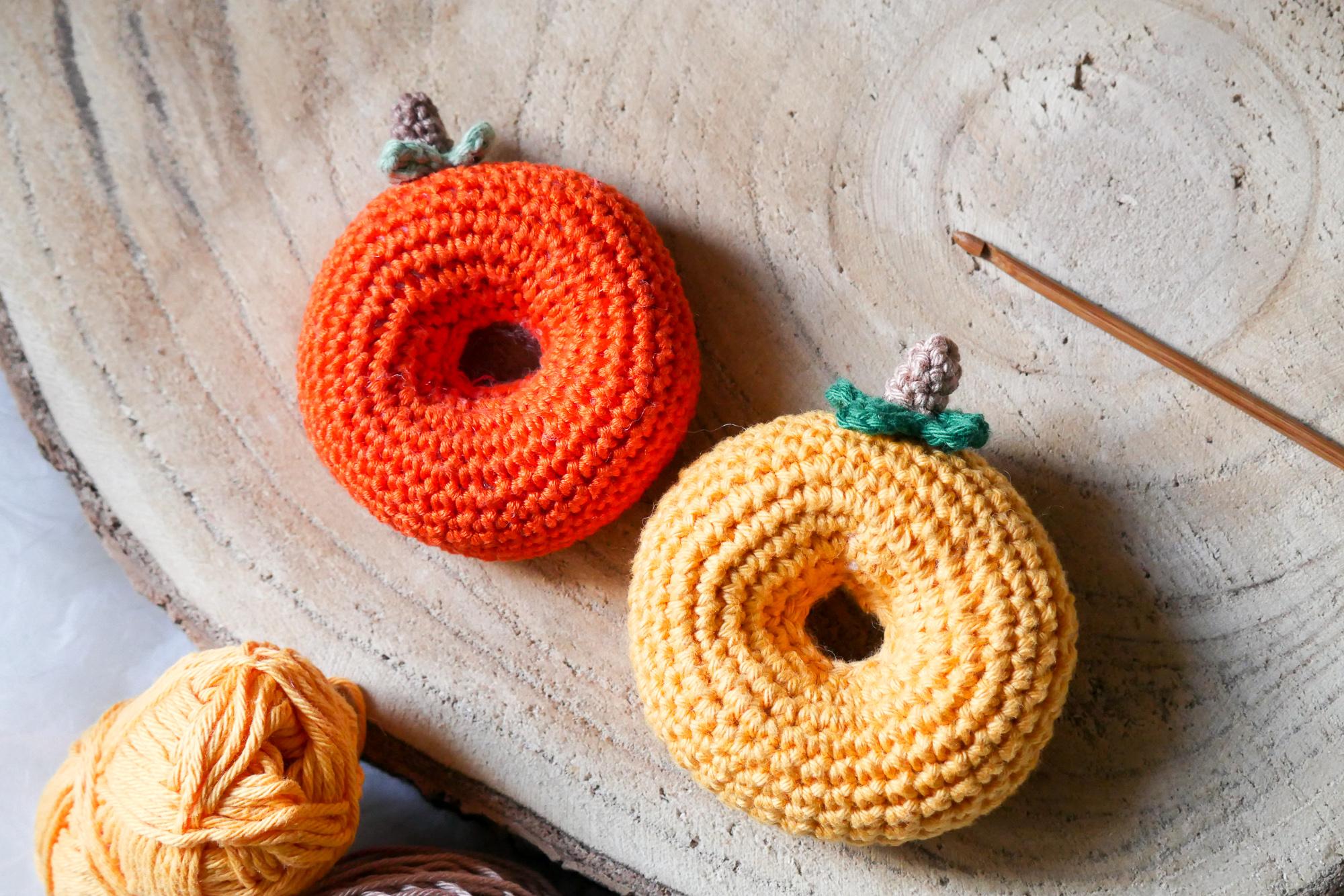 Donuts häkeln- Kürbis häkeln