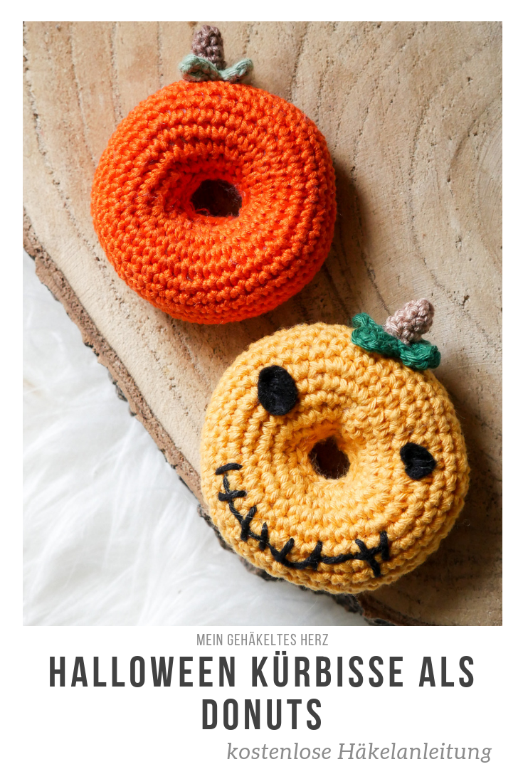 kostenlose Häkelanleitung für Halloween-Kürbisse