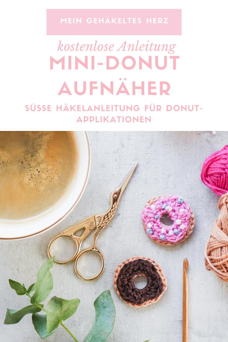 Donut Applikation häkeln-kostenfreie Anleitung
