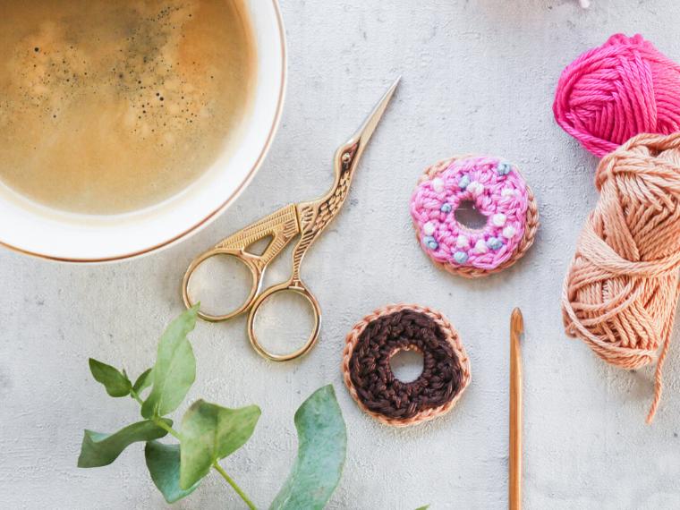 Donut Applikation häkeln- kostenlose Häkelanleitung