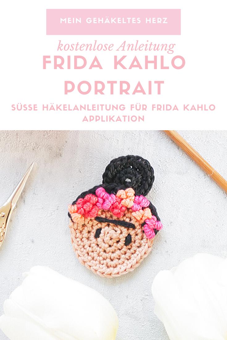 Frida Kahlo Mini-Portrait häkeln