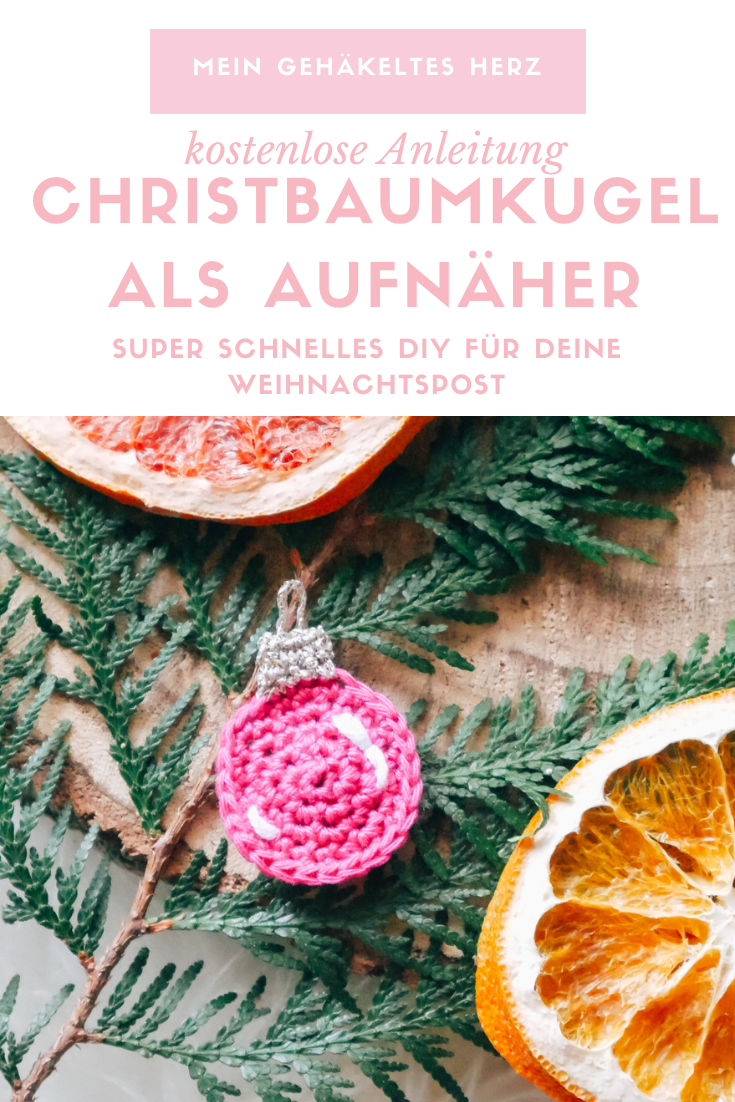 Christbaumkugel-Aufnäher häkeln