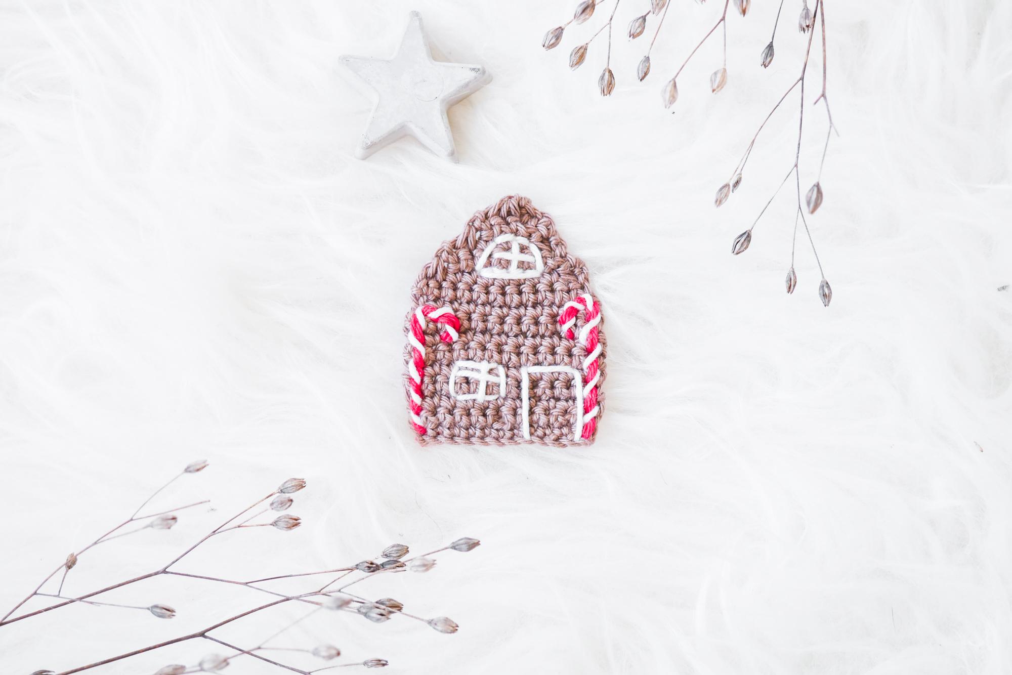 Advents und Weihnachts Häkelanleitung Lebkuchenhaus