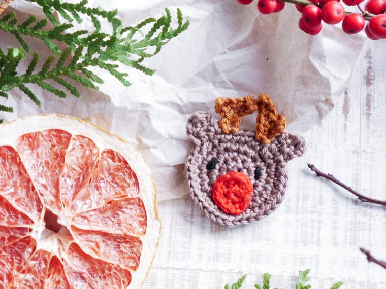 Rudolf häkelanleitung kostenfrei und für einsteigeer und Anfänger- niedliche Weihnachtsanleitung zum häkeln