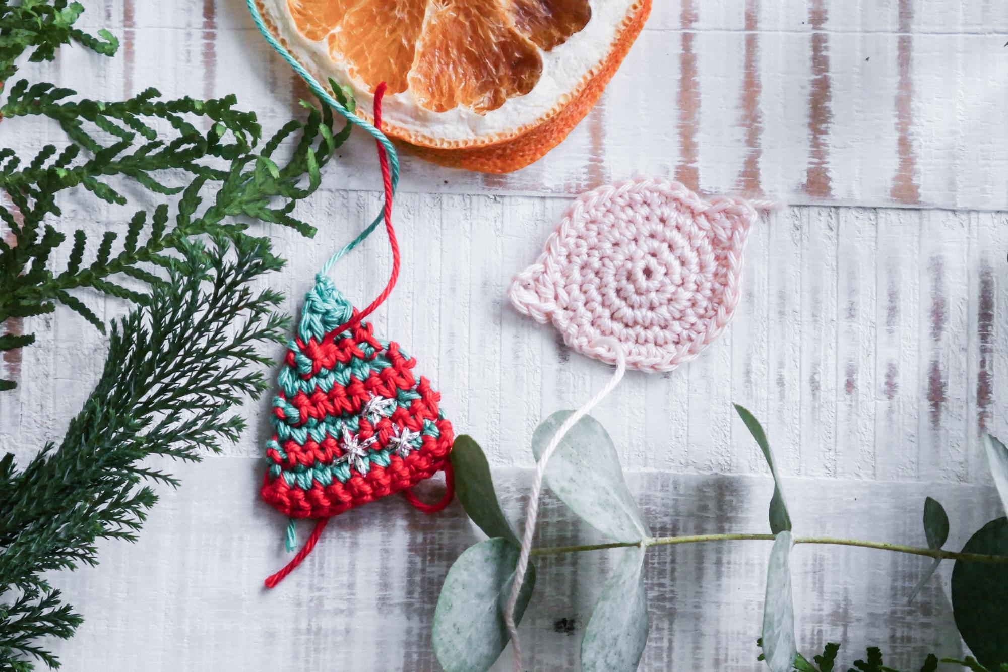 Weihnachtselfe häkeln- Einzelteile
