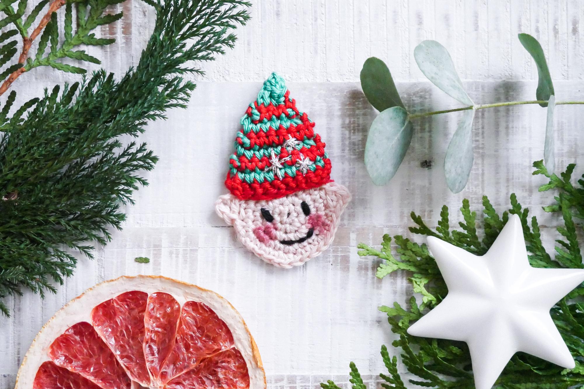 weihnachtlicher Wichtel häkeln- kostenfreie Häkelanleitung