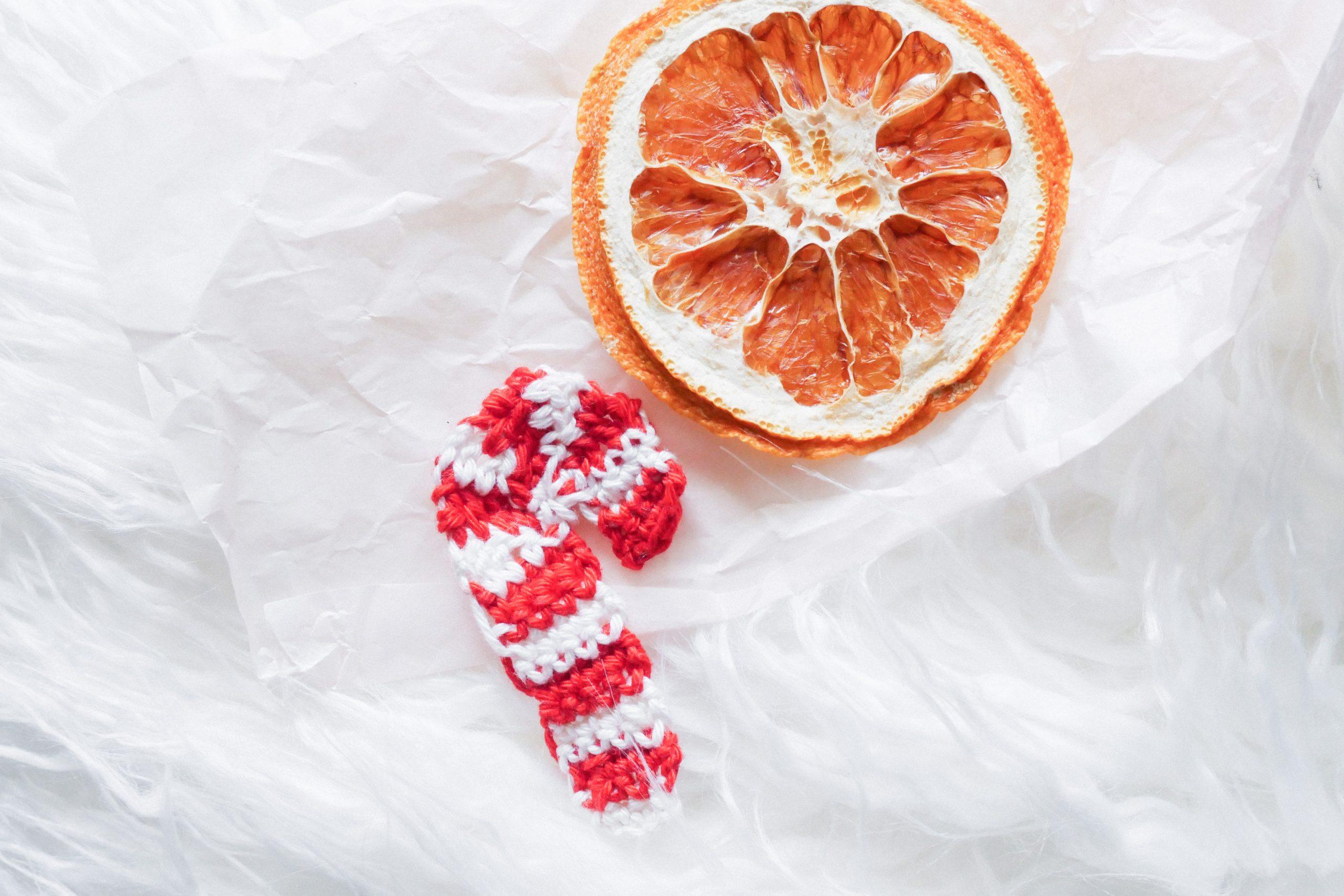 Zuckerstange häkeln-kostenlose Anleitung