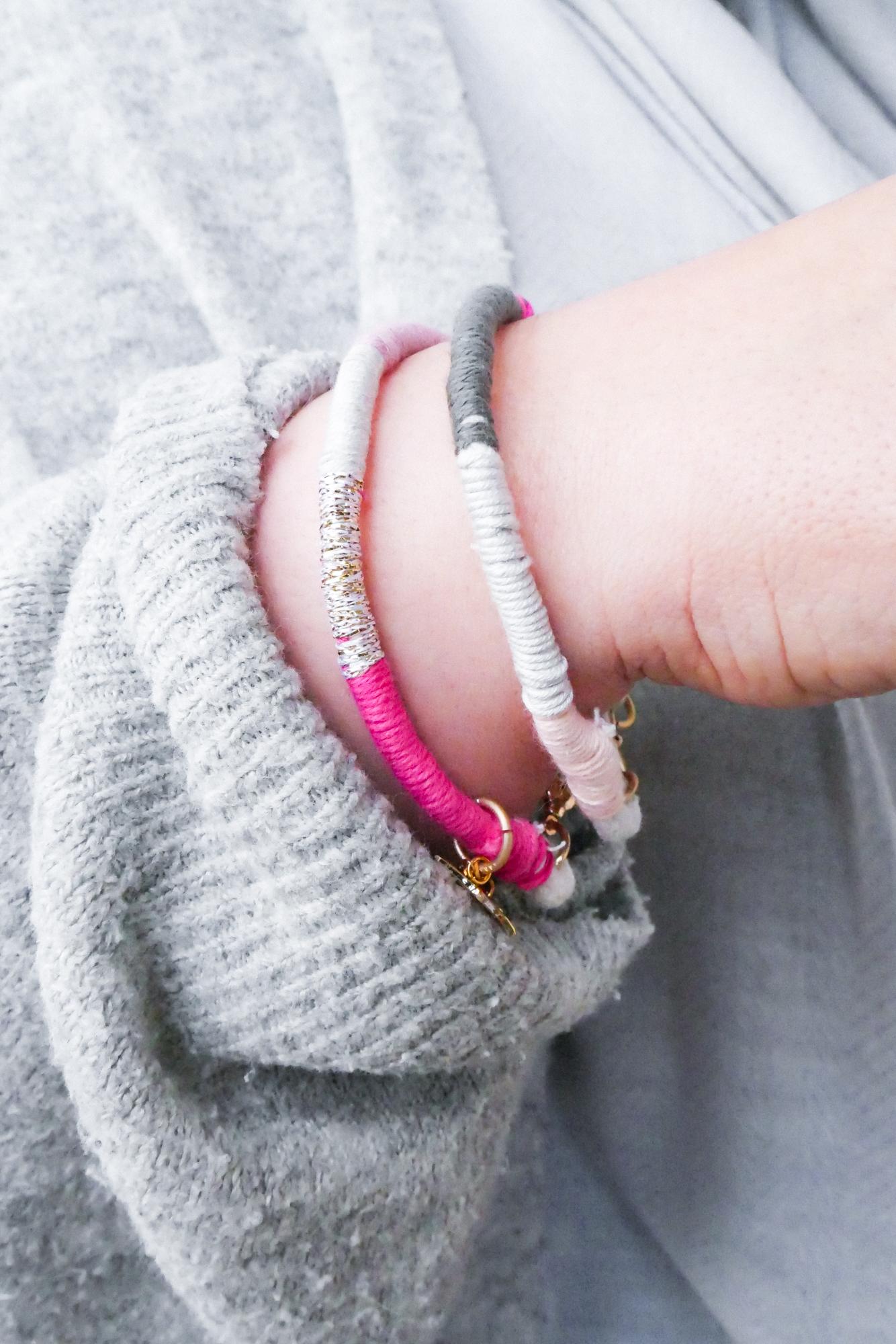 Armbänder aus Garnresten selbst herstellen- schnelles und einfaches DIY