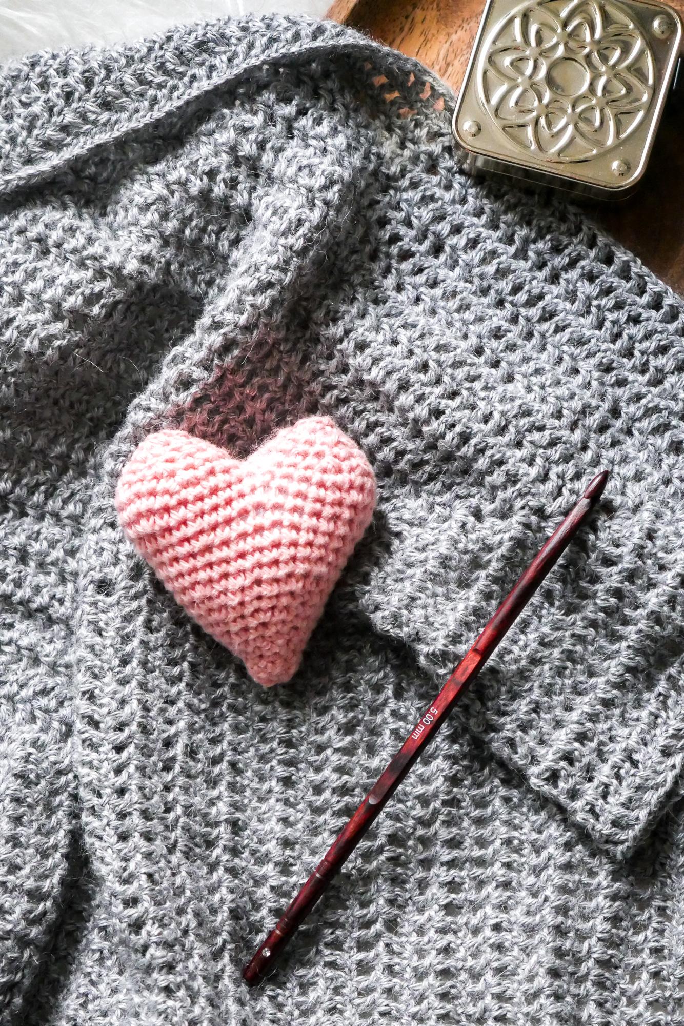 Herzen häkeln- kostenfreie Häkelanleitungen
