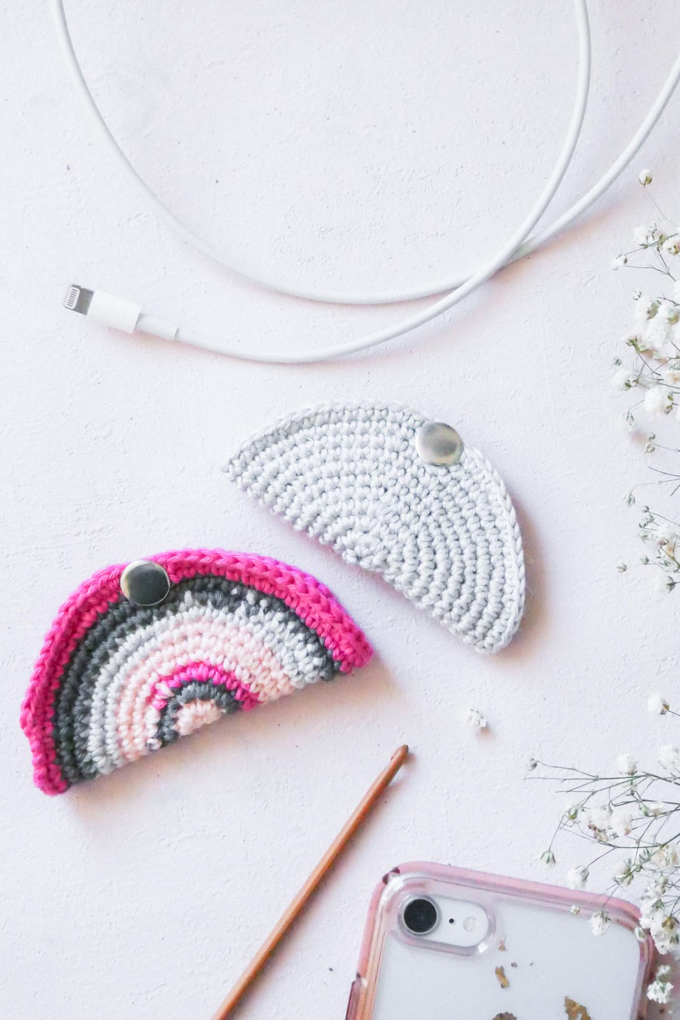 Kabel Organizer häkeln aus Wollresten- praktisches DIY