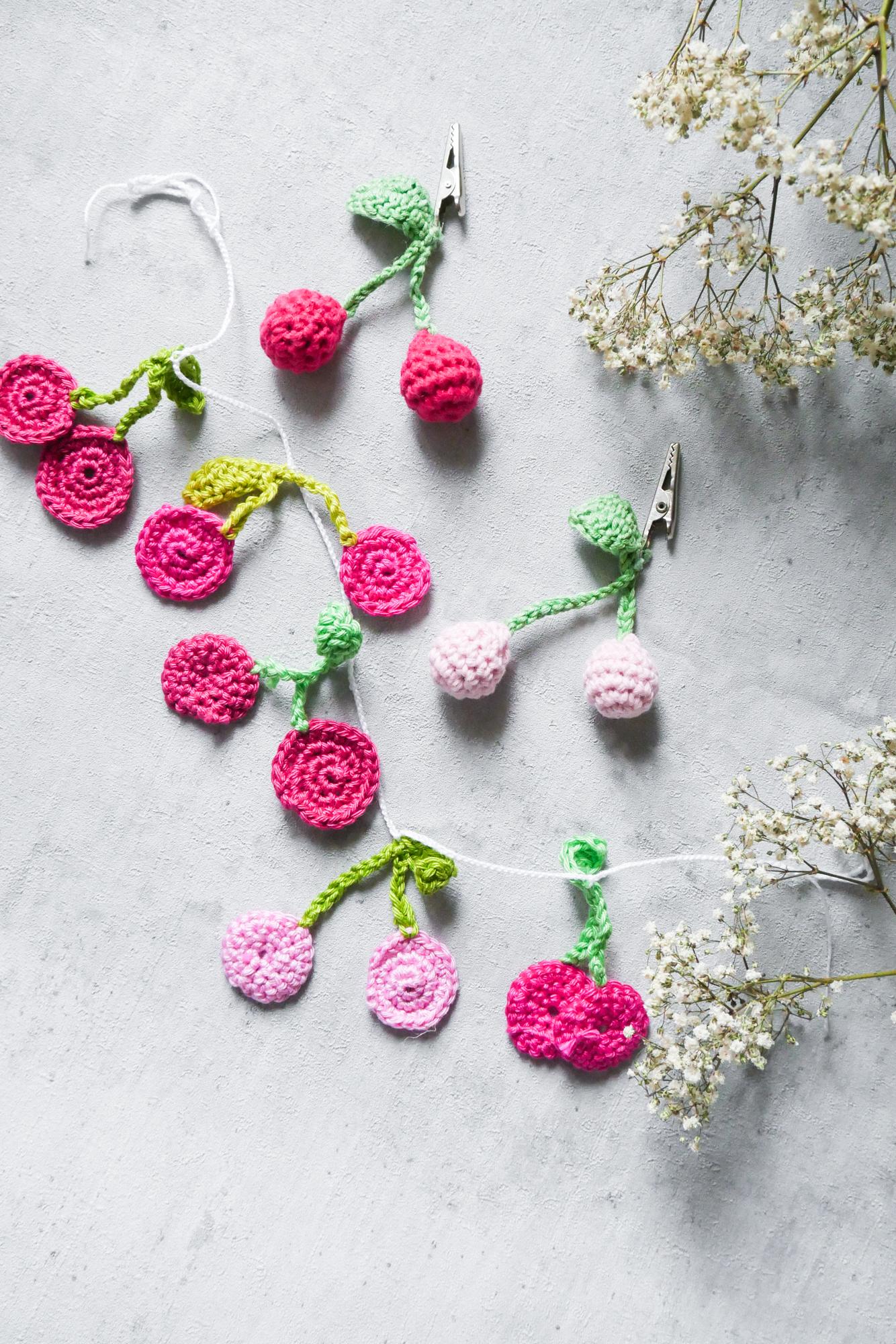 Kirschen- Früchte Häkeln- 17 Anleitungen für gehäkelte Obstmotive