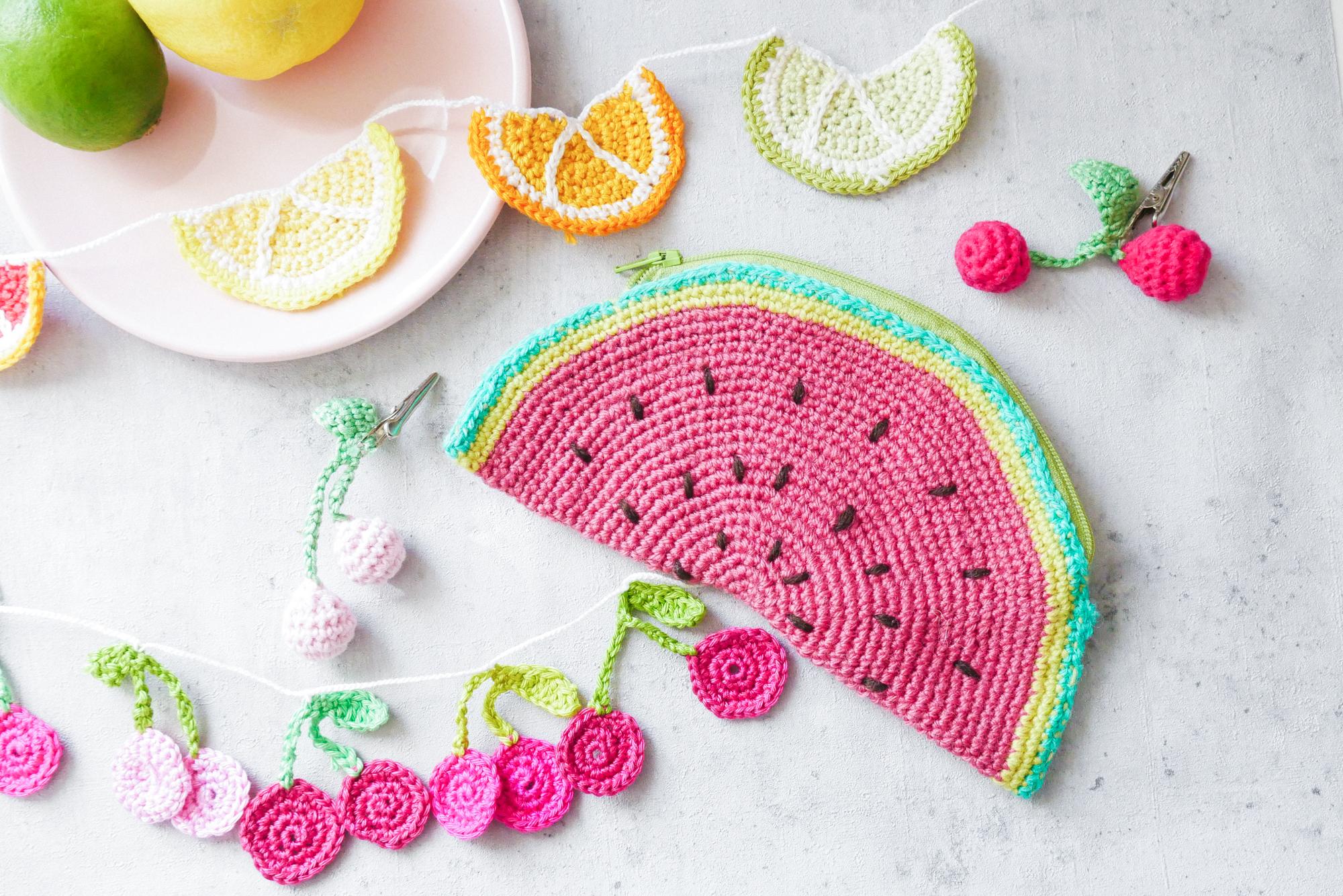 Früchte Häkeln- ideen für fruchtige DIYs