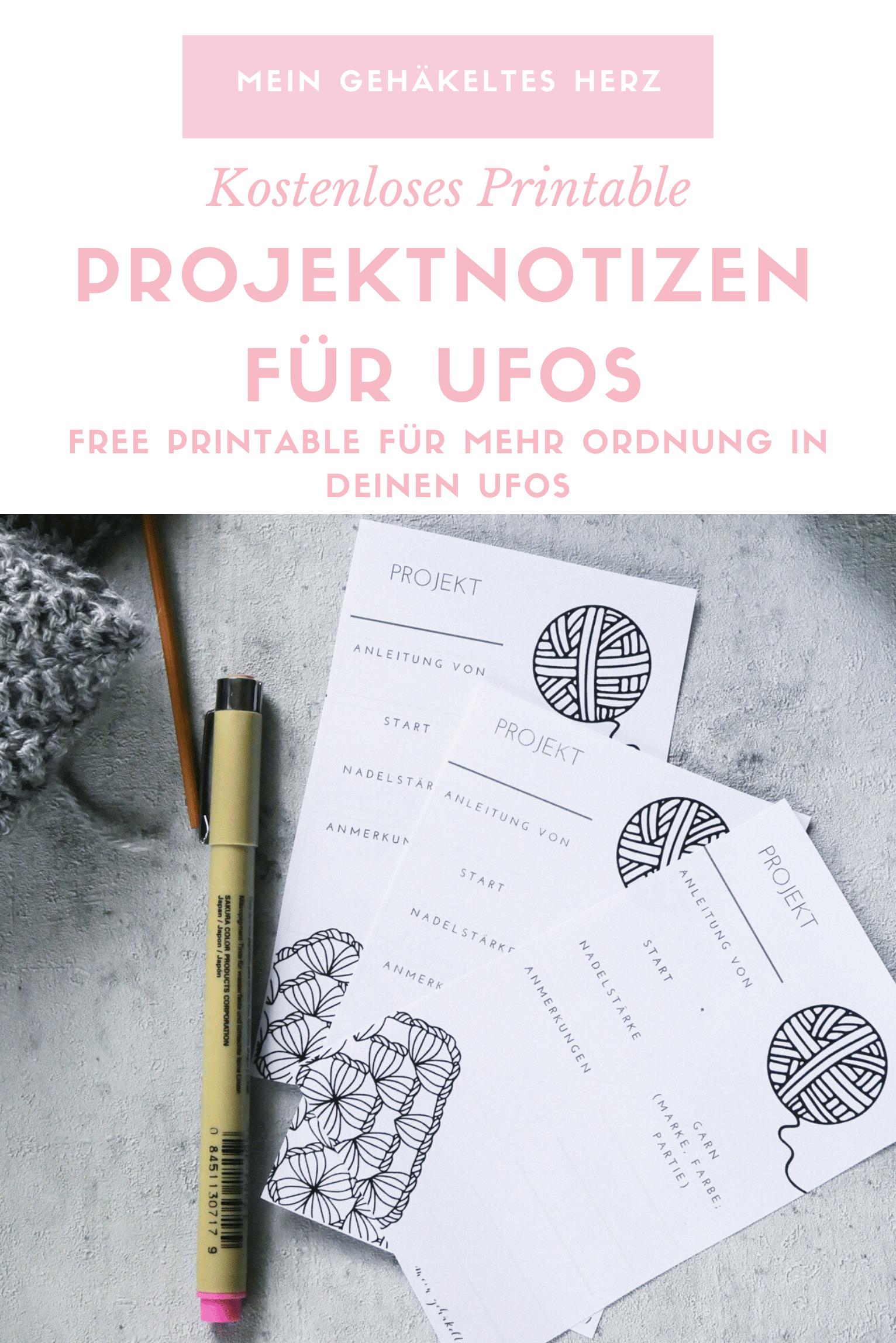 Projektnotizen für Ufos und pausierte Projekte