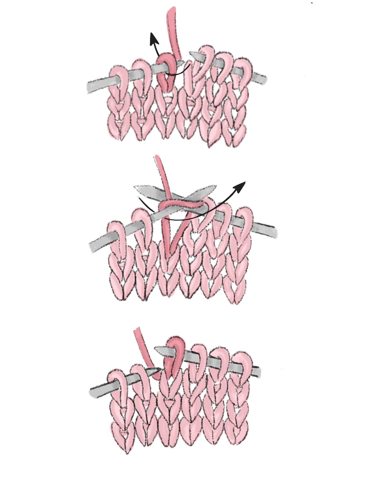 Häkeln vs. Stricken